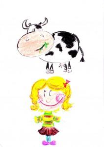 krowa i dziewczynka (1)